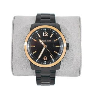 Michael Kors Vonn Black Rose Gold Men's  Watch